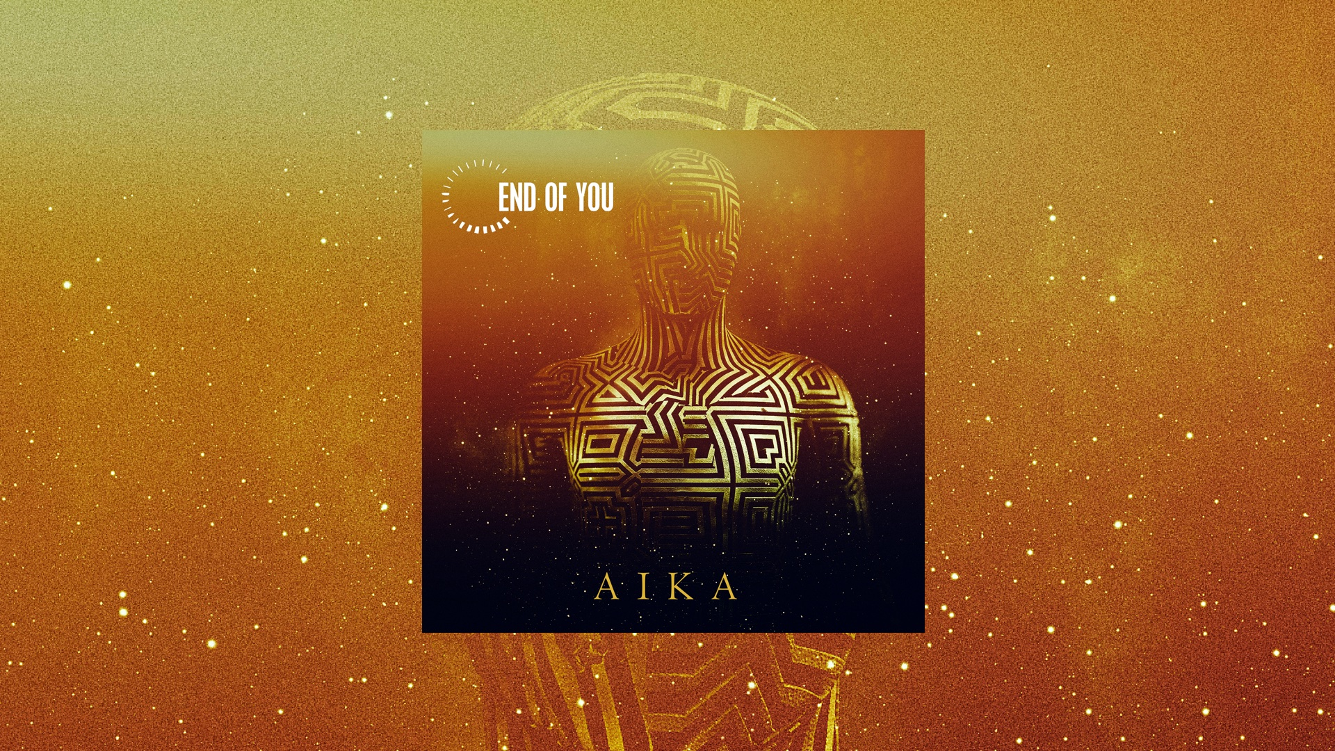 Aika - single cover with background